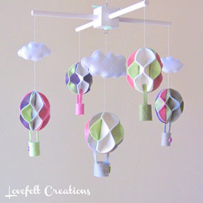 Hot Air Balloon Mobile by Lovefelt Creations