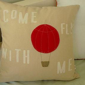 Hot Air Balloon Pillow by Olive Handmade