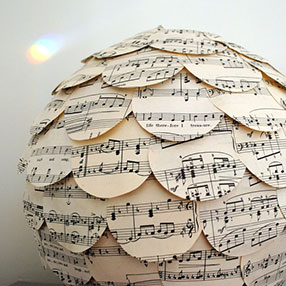 Mixed Medley Music Paper Lamp Shade