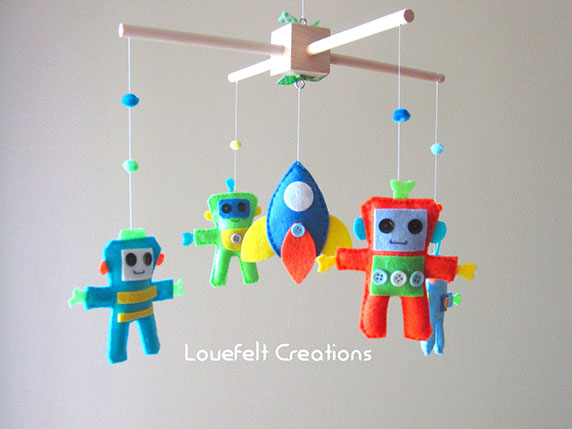 Robot Mobile by Lovefelt Creations
