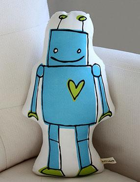 Robot Pillow by Little Korboose